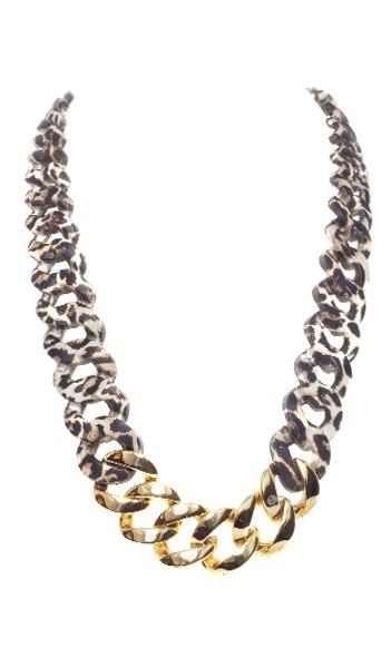 HANSE-KLUNKER Damen Kette 107105 Edelstahl leopard gold