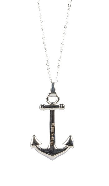 Kette Damen Mit Anker Anhänger Edelstahl Silber Halskette (40+5 cm) Für Frauen Und Herren perfekt geeignet als Geschenk
