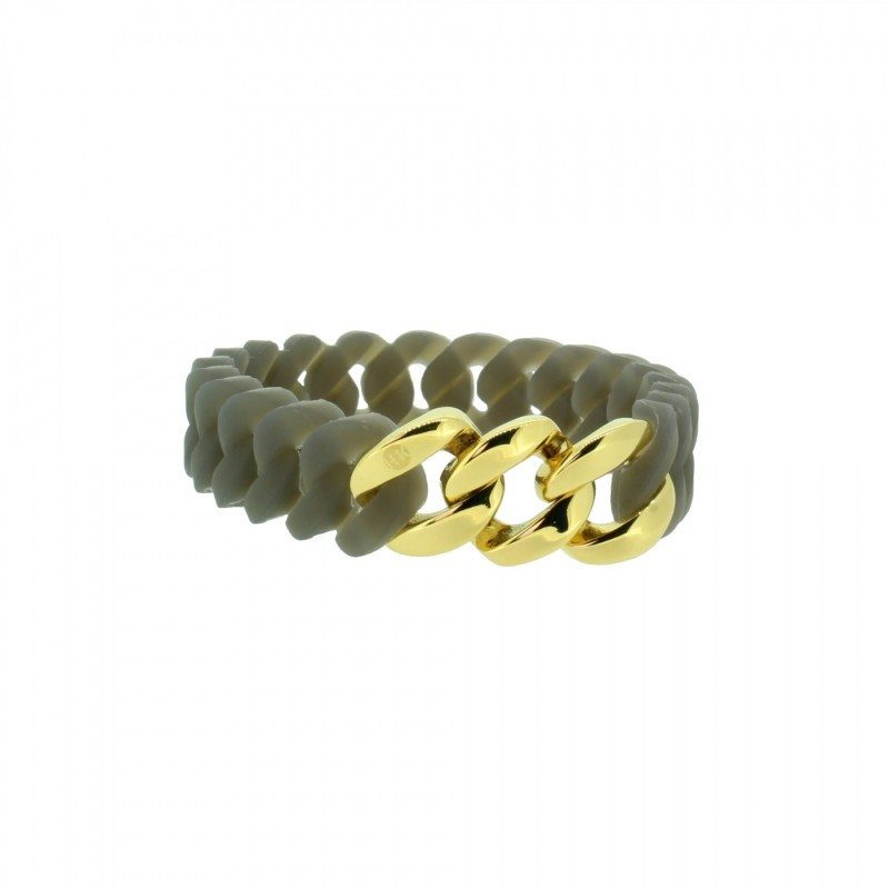 HANSE-KLUNKER MINI Damen Armband 107721 Edelstahl grau gold