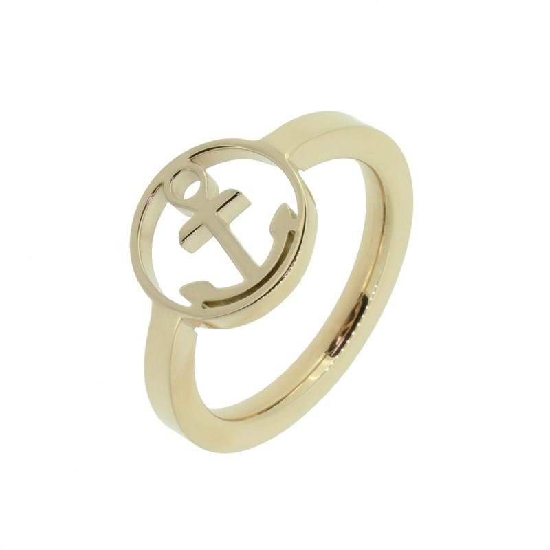 HAFEN-KLUNKER Glamour Collection Ring Anker 110525 Edelstahl Rosegold