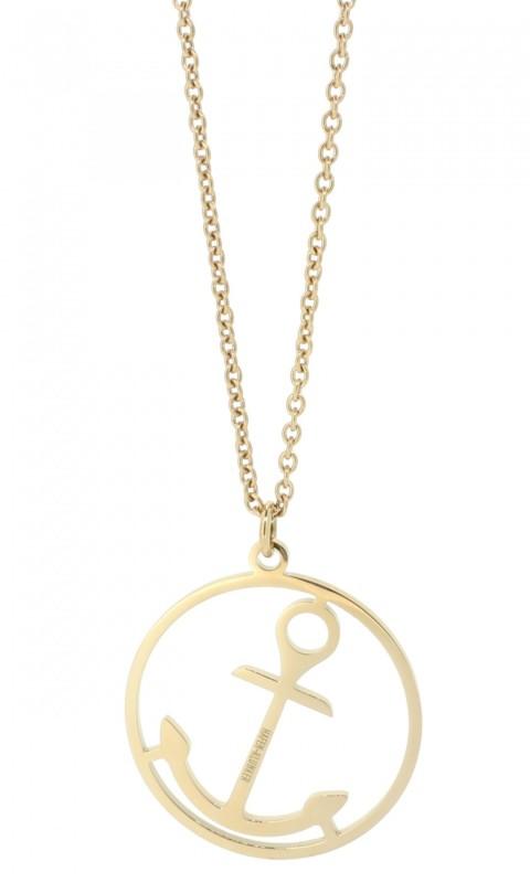 HAFEN-KLUNKER Glamour Collection Halskette Anker 108051 Edelstahl Anker rund groß rosegold