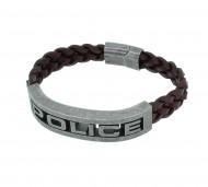 POLICE Herren Armband PJ25489BLC-02-L Leder braun
