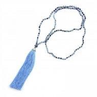 PEARL BAY Damen Perlenkette 107604 Quaste Kristall hellblau