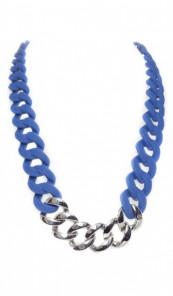 HANSE-KLUNKER Damen Kette 107079 Edelstahl blau silber