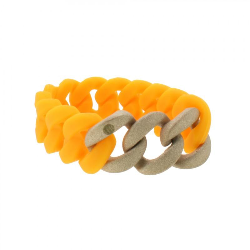 HANSE-KLUNKER ORIGINAL Damen Armband 107933 Edelstahl orange rosegold sandgestrahlt