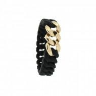 HANSE-KLUNKER MINI Damen Armband 107719 Edelstahl schwarz rosegold