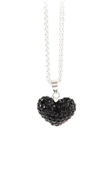 Crystal Line Anhänger TPAH108SW Herz Silber schwarz