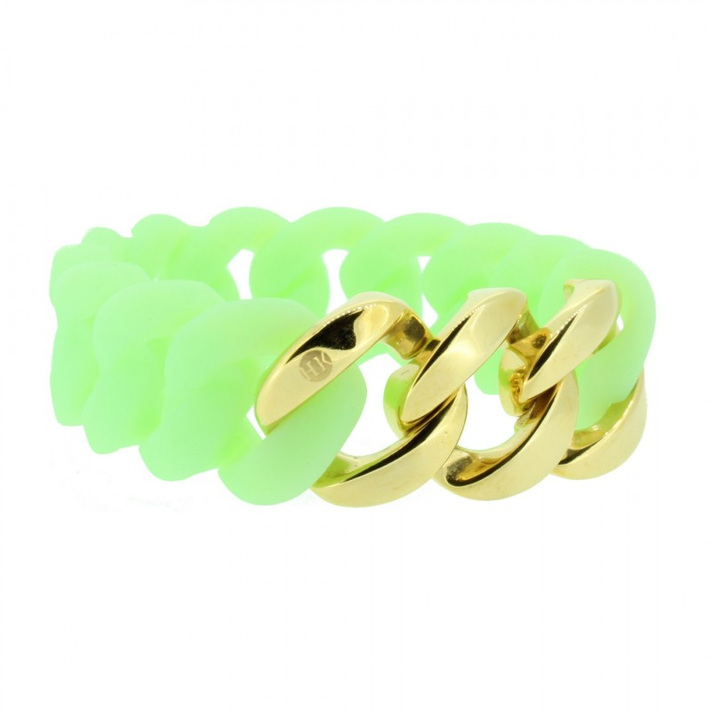 HANSE-KLUNKER ORIGINAL Damen Armband 106794 Edelstahl mintgrün gold