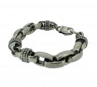POLICE Herren Armband PJ22257BSB-02 Edelstahl silber