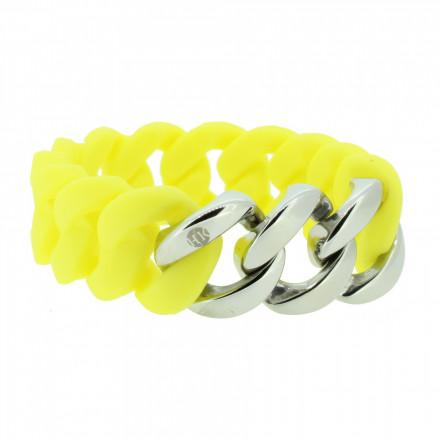 HANSE-KLUNKER ORIGINAL Damen Armband 106958 Edelstahl gelb silber