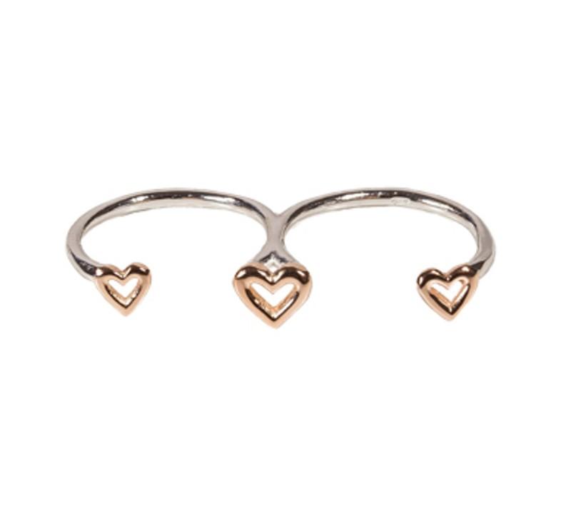 SilverArt Collection Ring Herz SR002-SRG Silber rhodiniert silber rosegold