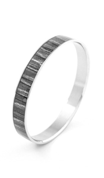 Grey Armreif 100542 Edelstahl grau