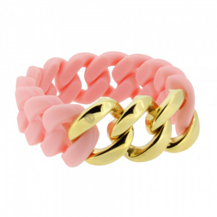 HANSE-KLUNKER ORIGINAL Damen Armband 107027 Edelstahl lachs gold