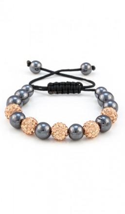 MARC SWAN Armband Shamballa Style 100114 rose grau