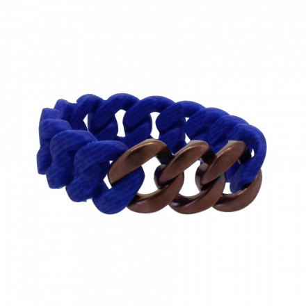 HANSE-KLUNKER ORIGINAL Damen Armband 107705 Edelstahl jeans marine blau bronze matt