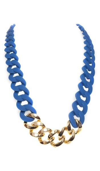 HANSE-KLUNKER Damen Kette 107080 Edelstahl blau gold
