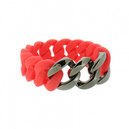 HANSE-KLUNKER ORIGINAL Damen Armband 107952 Edelstahl koralle gun metal