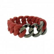 HANSE-KLUNKER ORIGINAL Damen Armband 107929 Edelstahl rot gun metal