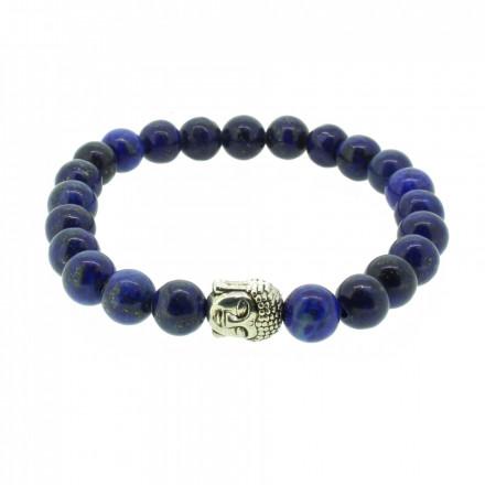 Silverart Buddha Armband 107855 FAB025 Lapislazuli blau Metal nickelfrei versilbert