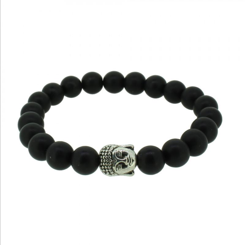 Silverart Buddha Armband 108084 FAB077 Obsidian schwarz Metal nickelfrei versilbert