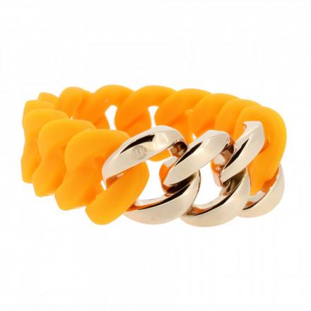 HANSE-KLUNKER ORIGINAL Damen Armband 106799 Edelstahl orange rosegold