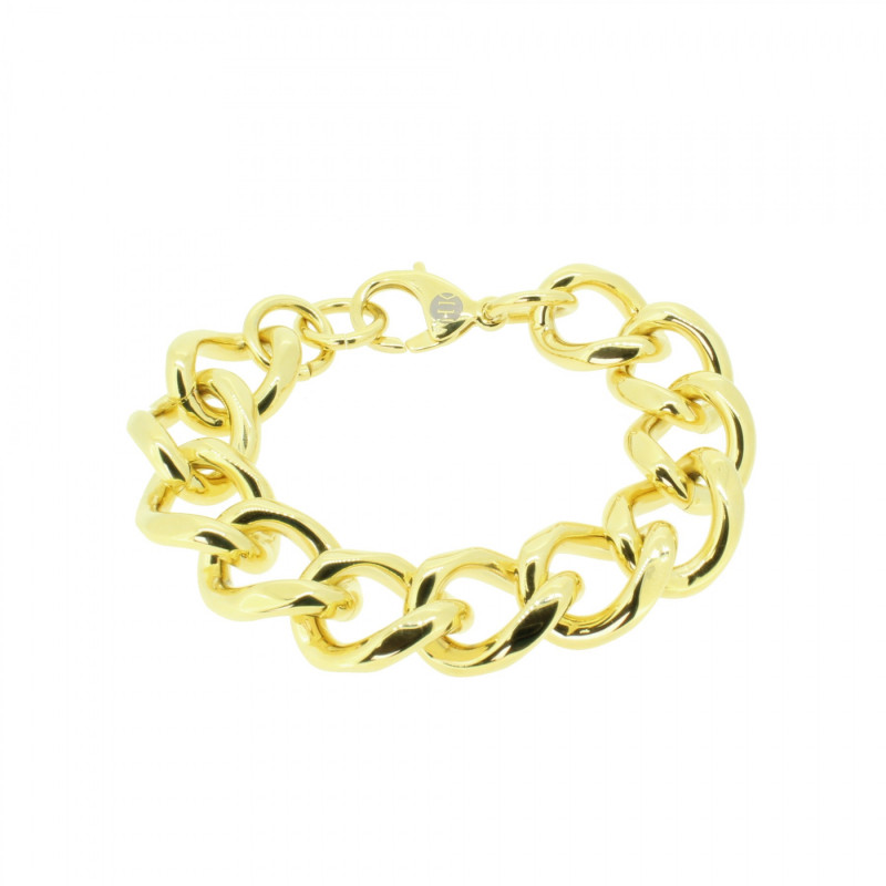 HANSE-KLUNKER METAL CURVE Damen Armband 107733 Edelstahl 316L gold