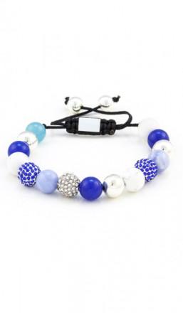 MARC SWAN Armband Shamballa Style 100124 blau weiss