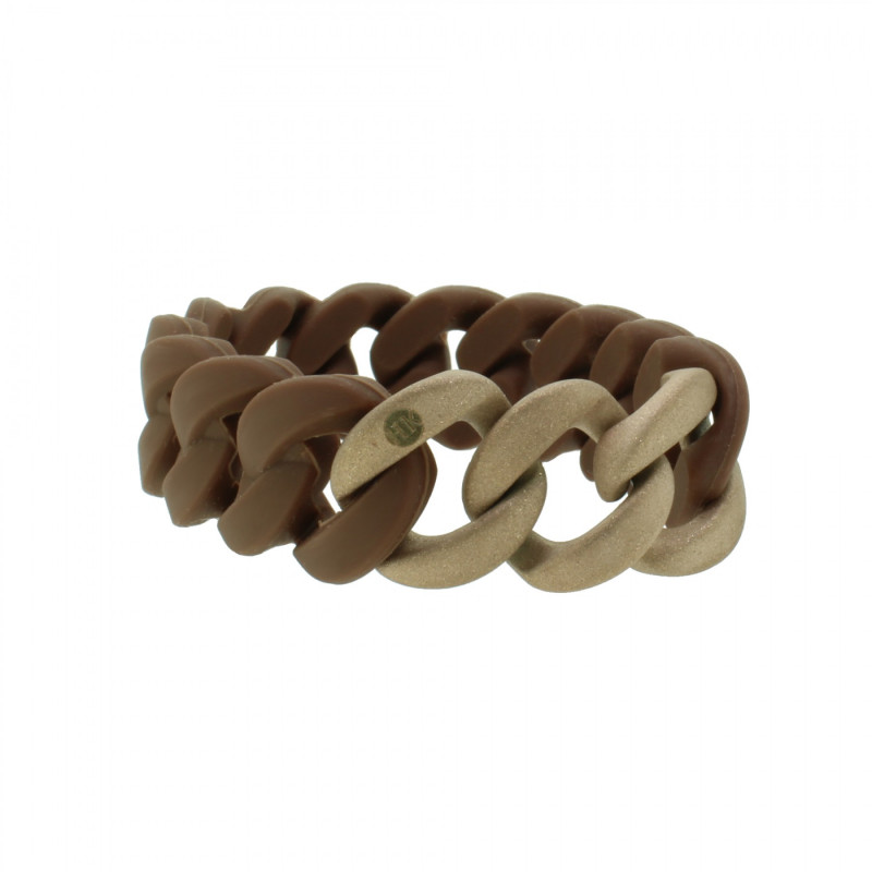HANSE-KLUNKER ORIGINAL Damen Armband 107787 Edelstahl braun rosegold sandgestrahlt