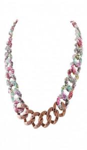 HANSE-KLUNKER Damen Kette 107475 Edelstahl paisley flower bronze