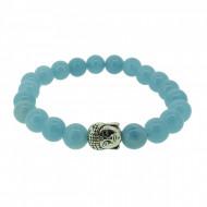Silverart Buddha Armband 108080 FAB074 Aquamarin hellblau Metal nickelfrei versilbert