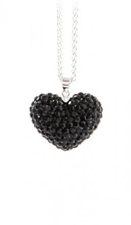 Crystal Line Anhänger TPAH114SW Herz Silber schwarz