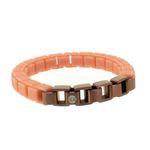 HANSE-KLUNKER FASHION Damen Armband 108001 Edelstahl beigerot bronzematt