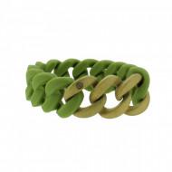HANSE-KLUNKER ORIGINAL Damen Armband 107783 Edelstahl oliv gold sandgestrahlt