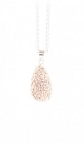 Crystal Line Anhänger TPAH106SW Tropfen Silber rose