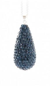 Crystal Line Anhänger TPAH111SW Tropfen Silber blau