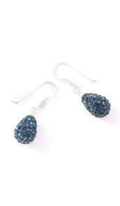 Crystal Line Ohrhänger TPOR109SW Tropfen Silber blau
