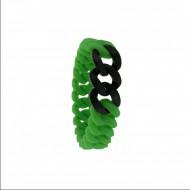 HANSE-KLUNKER MINI Damen Armband 107715 Edelstahl grün schwarz matt