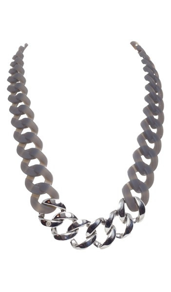 HANSE-KLUNKER Damen Kette 107082 Edelstahl grau silber
