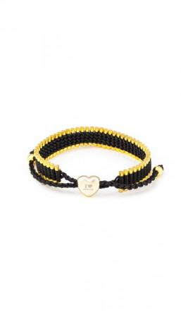 I Love Berlin Armband 106428 Herz schwarz gold