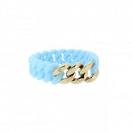 HANSE-KLUNKER MINI Damen Armband 107970 Edelstahl hellblau rosegold