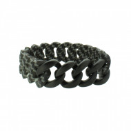 HANSE-KLUNKER ORIGINAL Herren Armband 107984 Edelstahl carbon style schwarz matt