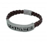 POLICE Herren Armband PJ25489BLC-02-S Leder braun