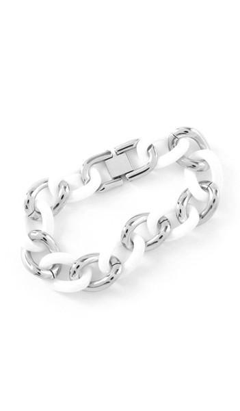 Grey Armband 100031 Edelstahl silber weiss