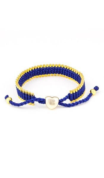 I Love Hamburg Armband 106416 Herz blau gold