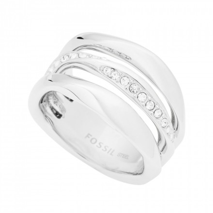 FOSSIL Ring CLASSICS JF01147040-6.5 Edelstahl silber