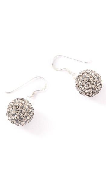 Crystal Line Ohrhänger TPOR108SW Kugel groß Silber grau