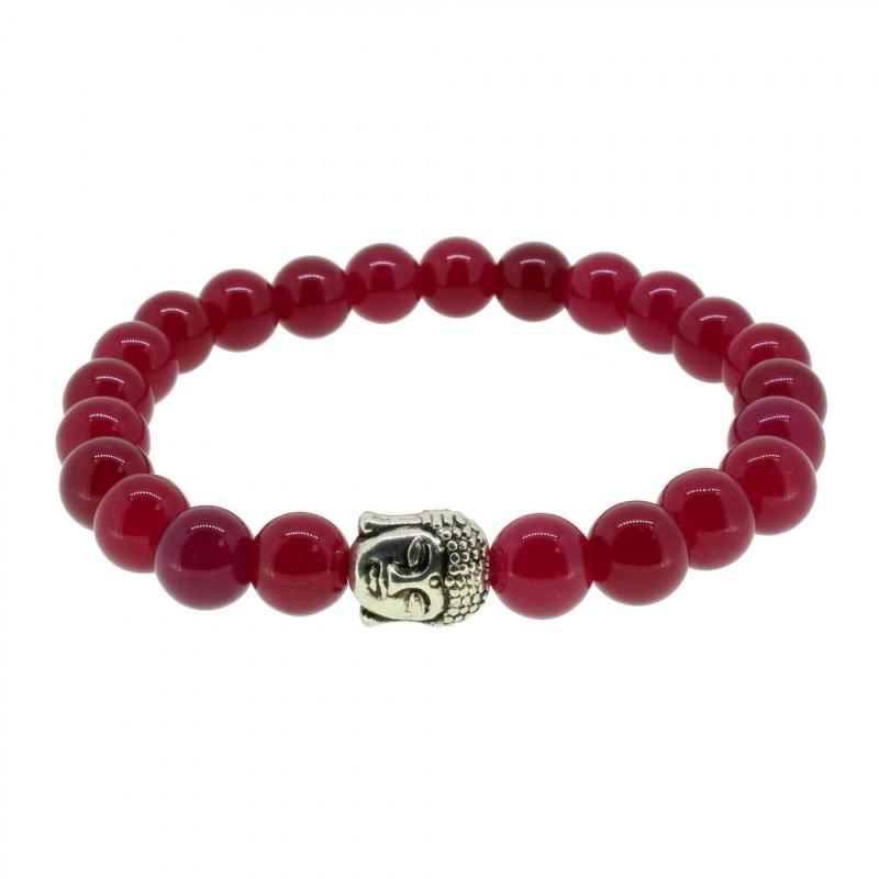 Silverart Buddha Armband 107870 FAB010 Korund rot Metal nickelfrei versilbert