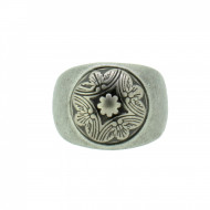 THO Herren Ring Wappen 107827 THO-R003 Edelstahl silber