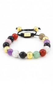 MARC SWAN Armband Shamballa Style 106436 mehrfarbig