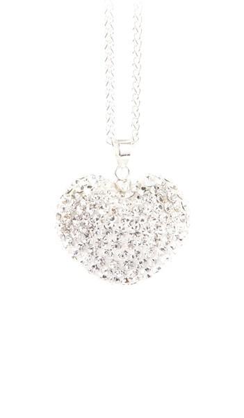 Crystal Line Anhänger TPAH114SW Herz Silber weiss